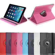 360° Rotating PU Leather Swivel Case Smart Cover Stand For Apple iPad 5 Air 1