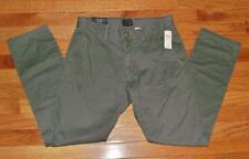 NEW NWT Mens GAP Khakis Lived In Tapered Khaki ALL SIZES 100% Cotton Green *V9
