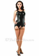 Latex Molded Corselette / Garter / Black / Rubber / Unisex / 137
