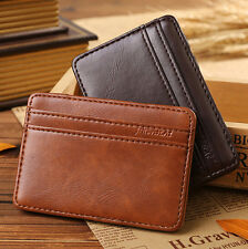 Mens Creative ID/Credit Card Holder Case Wallet Slim Leather Magic Money Clip
