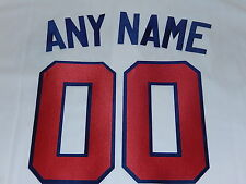 ATLANTA BRAVES Number KIT Authentic HOME WHITE JERSEY
