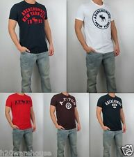 NWT Abercrombie &Fitch Men Muscle Fit Heritage Applique Logo Graphic Tee T Shirt