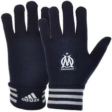 adidas Performance OM Olympique De Marseille Soccer Club Knitted Gloves - Navy