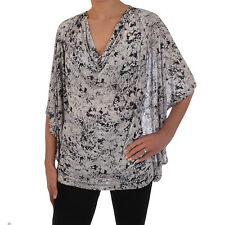 French Connection FCUK Womens Batik Batwing Scoop Neck Tunic Top