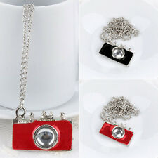 1pc Womens Fashion Jewelry Vintage Camera Pendant Necklace Sweater Chain