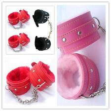 Leather Slave Hand Ring Handcuff Bondage Ankle-cuffs Restraint Fetish Sex Toy Q