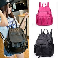 Fashion Casual Womens PU Leather Shoulder Bag Backpacks Travel School Bookbags