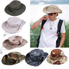 New Men Hunting Hat Military Cap Boonie Outdoor Wide Brim Bucket Unisex Fishing