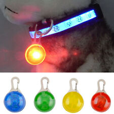 Mini Pet Safety LED Night Light Dog Cat Puppy Flashing Keyring Pendant Collar