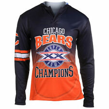 Chicago Bears Klew On the Fifty Matchup Hooded Long Sleeve T-Shirt - Navy - NFL