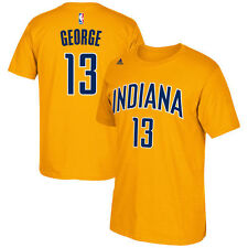 Paul George Indiana Pacers adidas Net Number T-Shirt - Gold - NBA