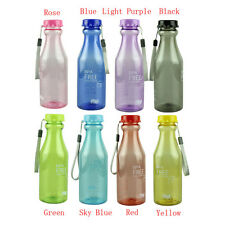 550ml BPA Free Cycling Bicycle Bike Sports Unbreakable Plastic Water Bottle