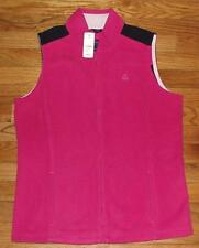 NWT Brooks Brothers Womens Polar Fleece Vest Jacket $69 Front Zipper Pink *1Y