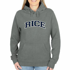 Rice Owls Women's Arch Name Pullover Hoodie - Gunmetal - College