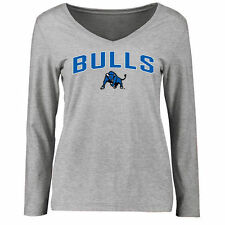 Women's Ash Buffalo Bulls Proud Mascot Slim Fit Long Sleeve T-Shirt - College