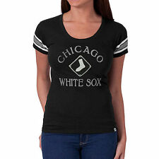 Chicago White Sox '47 Women's Off Campus IV Logo Center T-Shirt - Black - MLB