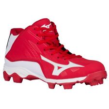 Mizuno Advanced Franchise 8 MID YOUTH Baseball Molded Cleats NIB Redl/White