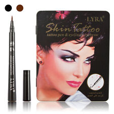 12Pcs Waterproof Makeup Eyebrow Liquid Eye Liner Pencil Eyeliner Pen Black/Brown