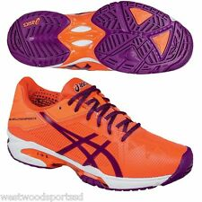 WOMEN'S ASICS GEL SOLUTION SPEED 3 TENNIS SHOES  (FLASH CORAL/PLUM/FLASH CORAL)