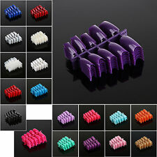 100pcs French Acrylic False Nail Art Half Tips Salon Art UV Gel - Color Choose