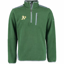 Oakland Athletics Columbia Crosslight II Omni-Heat Half-Zip Jacket - Green - MLB