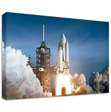 SPACE SHUTTLE COLUMBIA CANVAS | LARGE WALL ART | take off space nasa rocket clou