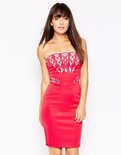 LIPSY Pink Laser cut Bandeau Evening Party DRESS BNWT