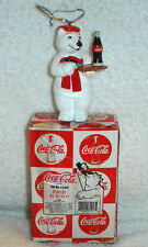 COCA COLA COKE POLAR BEAR ALWAYS AN ARTIST arteest CHRISTMAS ORNAMENT