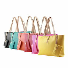 New Designer Large Womens Leather Style Tote Shoulder Bag Handbag Ladies  GU
