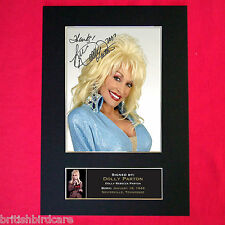 DOLLY PARTON Mounted Signed Photo Reproduction Autograph Print A4 239