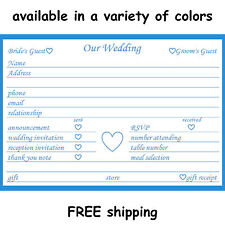 Wedding Guest Organization Cards Gift Reception RSVP Response Info Bride & Groom