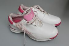 Ladies Adidas Prima Driver Leather Ladies Golf Shoes White / Pink 5, 5 1/2,6,7,8