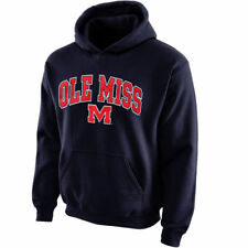Ole Miss Rebels Youth Midsized Pullover Hoodie - Navy Blue - NCAA