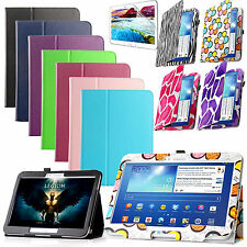 """For Samsung Galaxy Tab 3 10.1"""" GT-P5200 Slim Folio Leather Case Cover +Protector"""
