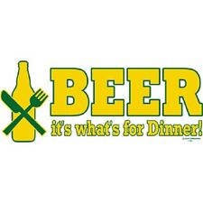 BRAND NEW BEER IT'S WHAT'S FOR DINNER! T-Shirts Small to 5XL BLACK or WHITE