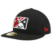 Men's New Era Black Richmond Flying Squirrels Logo Reverse Fitted Hat