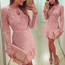 Sexy Women Bodycon Summer Evening Cocktail Party Long Sleeve Floral Mini Dress