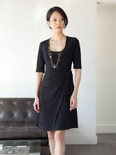 New Japanese Weekend Maternity Black Side Sweep Wrap Luxe Jersey Career Dress