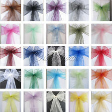 10 Organza Sash Chair Bow Wedding Party Banquet Supplies Decoration Multi Colors