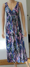 Ex Boden Blue Floral Jersey Maxi Dress Regular & Long 8 10 12 14 16 18 Summer