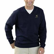 Navy Midshipmen Clubhouse V-Neck Sweater – Navy Blue - College