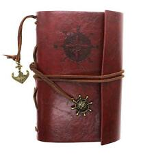 New Classic Retro Vintage Faux Leather Bound Blank Page Notebook Journal Diary