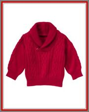 NWT Gymboree sz 18-24 Fire Truck Chief Cable Knit Red Holiday Pullover Sweater