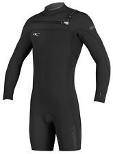 O'Neill Hyperfreak Long Sleeve Springsuit Men's Wetsuit 2mm Front Zip Black/Blue