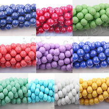 50Pcs New Arrival Czech Crystal Glass Round Craft Loose Beads 4/6/8/10MM 10Color