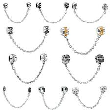 European Safety Chain 925 Sterling Silver Bead For Brand Charms Bracelets Bangle