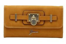 Guess Women's Greyson Slim Clutch Tri-Fold Wallet