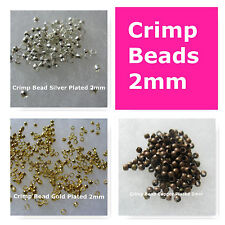 Crimp Beads 2mm Gold Silver Copper Plated Jewelry Findings Craft Beads