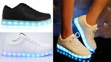 Fashion Dance DJ Sneakers Casual Luminous LED Lights Lace Up Shoes Sportswear