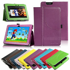 PU Leather Folio Stand Cover Case For Amazon Kindle Fire HDX 7""